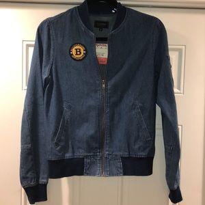 Light denim bomber jacket